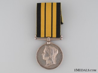 1873-1874 Ashantee Medal to HMS BARRACOUTA