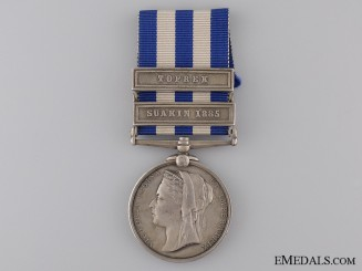 1882-89 Egypt Medal to the 20th Hussars