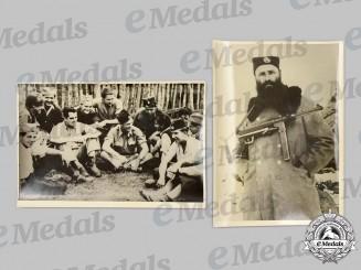 Yugoslavia, Kingdom. A Pair of Chetnik Photographs, Early Postwar Reproductions