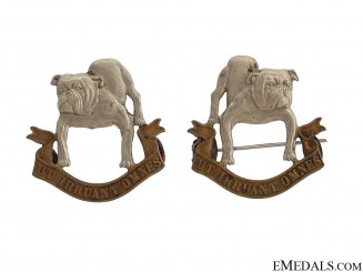 18th Manitoba Mounted Rifles Officer Collar Badges