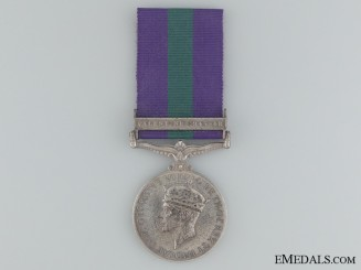 1918-1962 General Service Medal to Pte. T. Sethunts