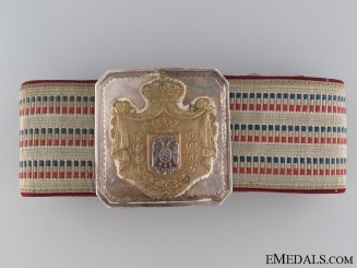 1920's Royal Yugoslav Officer's Belt & Buckle