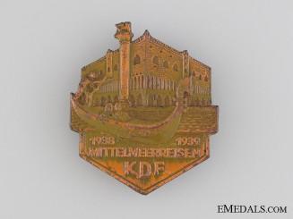 1938-39 KDF Mittelmeerreisen Badge