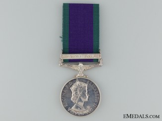 1962-2007 General Service Medal to PTE. I.S.Lucas