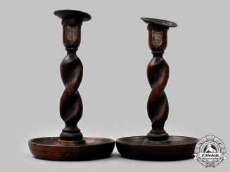 United Kingdom. A Set of H.M.S. Victory Repair Candlesticks 1925