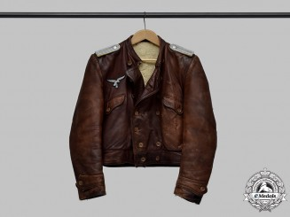 Germany, Luftwaffe. A Flying Personnel Leutnant's Leather Flight Jacket