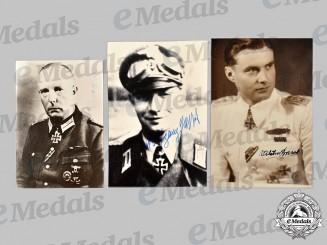 Germany, Heer. A Lot of Postwar Signed Knight's Cross Recipient Photos