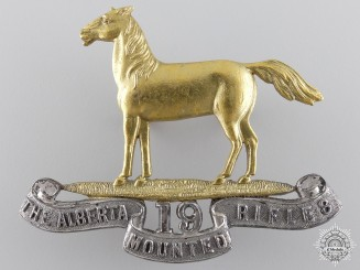 19th Alberta Mounted Rifles Officer Cap Badge by Gaunt