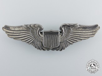 A Second War United States Army Air Force Pilot Badge by Gemsco