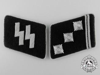 A Mint Set of Waffen-SS Obersturmführer's Collar Tabs
