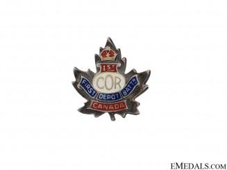 1st Depot Battalion Sweetheart Pin CEF