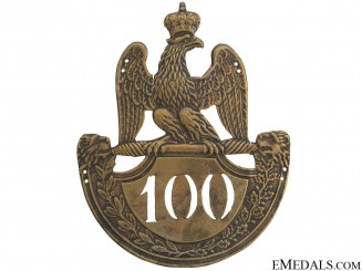1st Empire 1812 Model 100th Regiment Helmet Plate