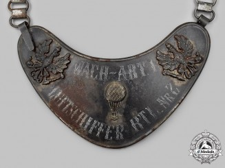 Germany, Imperial. A Rare Luftschiffer-Bataillon 2 Gorget