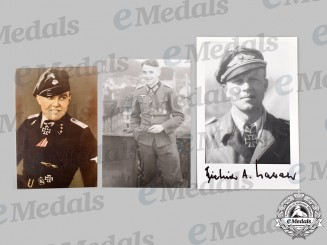 Germany, Wehrmacht. A Mixed Lot of Postwar Signed Knight's Cross Recipient Photos