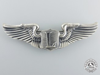 A Second War United States Liaison Pilot Badge by Amcraft