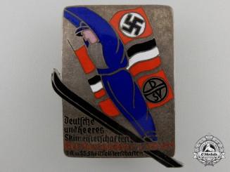 A 1935Wehrmacht Ski-Meisterschaften Participant's Badge