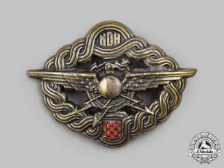 Croatia, Independent State. A Radio Operator & Air Gunner Badge, by Braca Knaus, c.1941