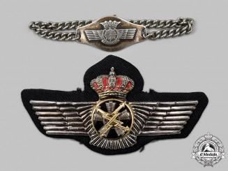Spain, Kingdom, Francoist Era. Two Spanish Air Force Items