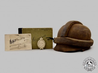 Germany, Luftstreitkräfte. A Pilot's Badge, with Flight Helmet and Photo Album, to Wilhelm Wagner