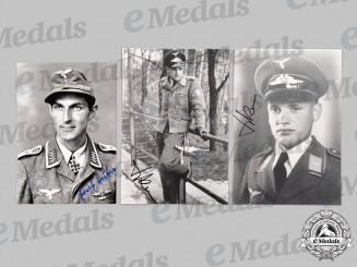 Germany, Luftwaffe. A Lot of Postwar Signed Knight's Cross Recipient Photos