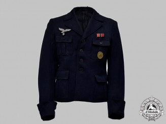 Germany, Luftwaffe. A Decorated Flak/Artillery NCO's Service Blouse