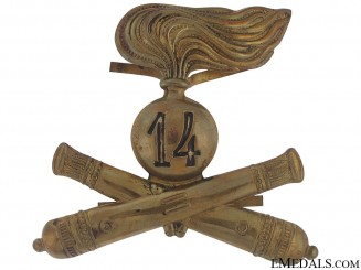 26th Division Artillery Pith Helmet Badge