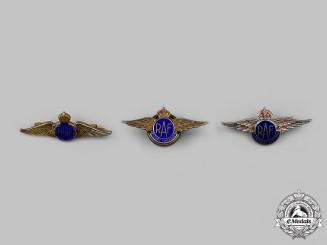 United Kingdom. A Lot of Three Royal Air Force (RAF) Sweetheart Badges