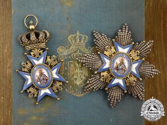 Serbia, Kingdom. An Order of Saint Sava, I Class Grand Cross Set Belonging to Queen Mother Natalie of Serbia, 1899