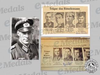 Germany, Heer. A Lot of Postwar Knight's Cross Recipient Signatures