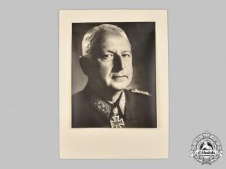 Germany, Wehrmacht. A Signed Portrait of Generalfeldmarschall Erich von Manstein