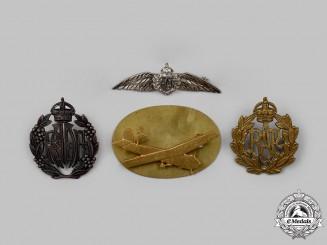 United Kingdom, Australia. A Lot of Four Royal Air Force (RAF) and Royal Australian Air Force (RAAF) Badges
