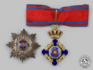 Romania, Kingdom. An Order of the Star, Grand Officer's Set, by Heinrich Weiss, c. 1940