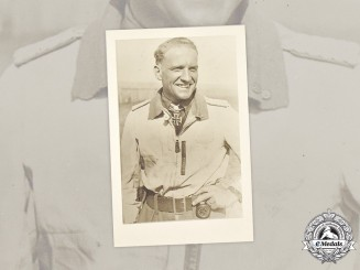 Germany, Luftwaffe. An Unissued Postcard of Stuka Ace Hans-Ulrich Rudel