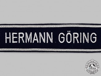 Germany, Luftwaffe. A Mint and Unissued 1st Fallschirm-Panzer Division Hermann Göring NCO's Cuff Title