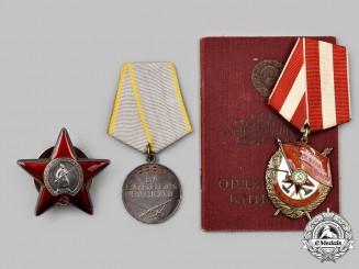 Russia, Soviet Union. A Mixed Lot of Awards to Nikolai Fedorovich Novaev