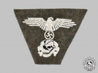 Germany, SS. A Waffen-SS One-Piece M43 Cap Insignia