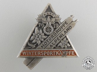 A 1939 NSKK Alpenland Motor Group Badge