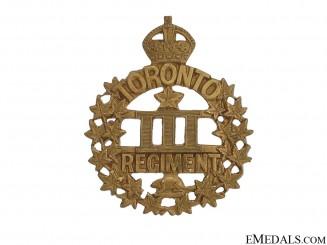 3rd Battlaion Toronto Regiment Cap Badge CEF