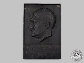 Germany, Third Reich. An AH Patriotic Plaque