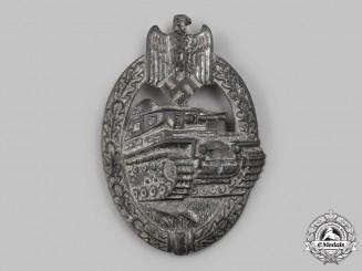 Germany, Wehrmacht. A Panzer Assault Badge, Silver Grade, by Rudolf Karneth & Söhne