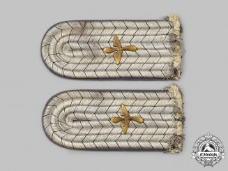 Prussia, Kingdom. A Pair of Flying Troops Leutnant Shoulder Boards