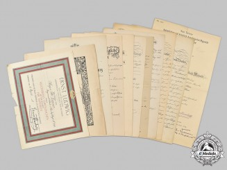 Germany, Imperial. A Collection of Documents and Certificates to Prussian Major Otto Cramer