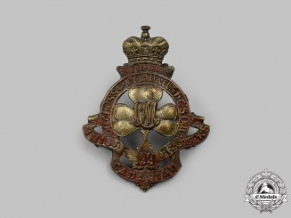 """Canada,CEF. A 199th Infantry Battalion """"Irish Canadian Rangers / Duchess of Connaught's Own"""" Cap Badge"""