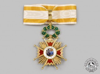 Spain, Kingdom. An Order of Isabella the Catholic in Gold, Lady's Commander, c. 1940