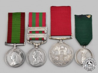 United Kingdom. A Fine India Service Group to Sergeant Major W.C. Reader, Queen's Own Madras Sappers and Miners