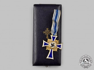 Germany, Third Reich. An Honour Cross of the German Mother, Gold Grade with Case, by Carl Poellath