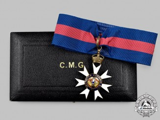 United Kingdom. A Most Distinguished Order of St. Michael & St. George, Companion Neck Badge by Spink & Son, c. 1930