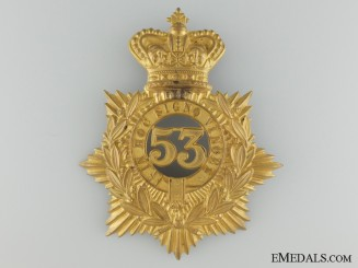 53rd Sherbrooke Battalion of Infantry Officer's Helmet Plate, c. 1880