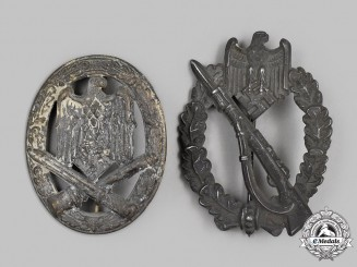 Germany, Wehrmacht. A Pair of Service Badges