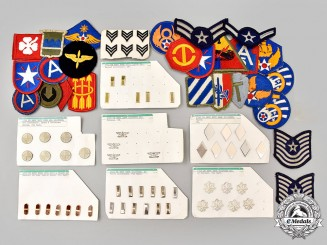 United States. A Lot of Eight-Three Army and Air Force Insignia